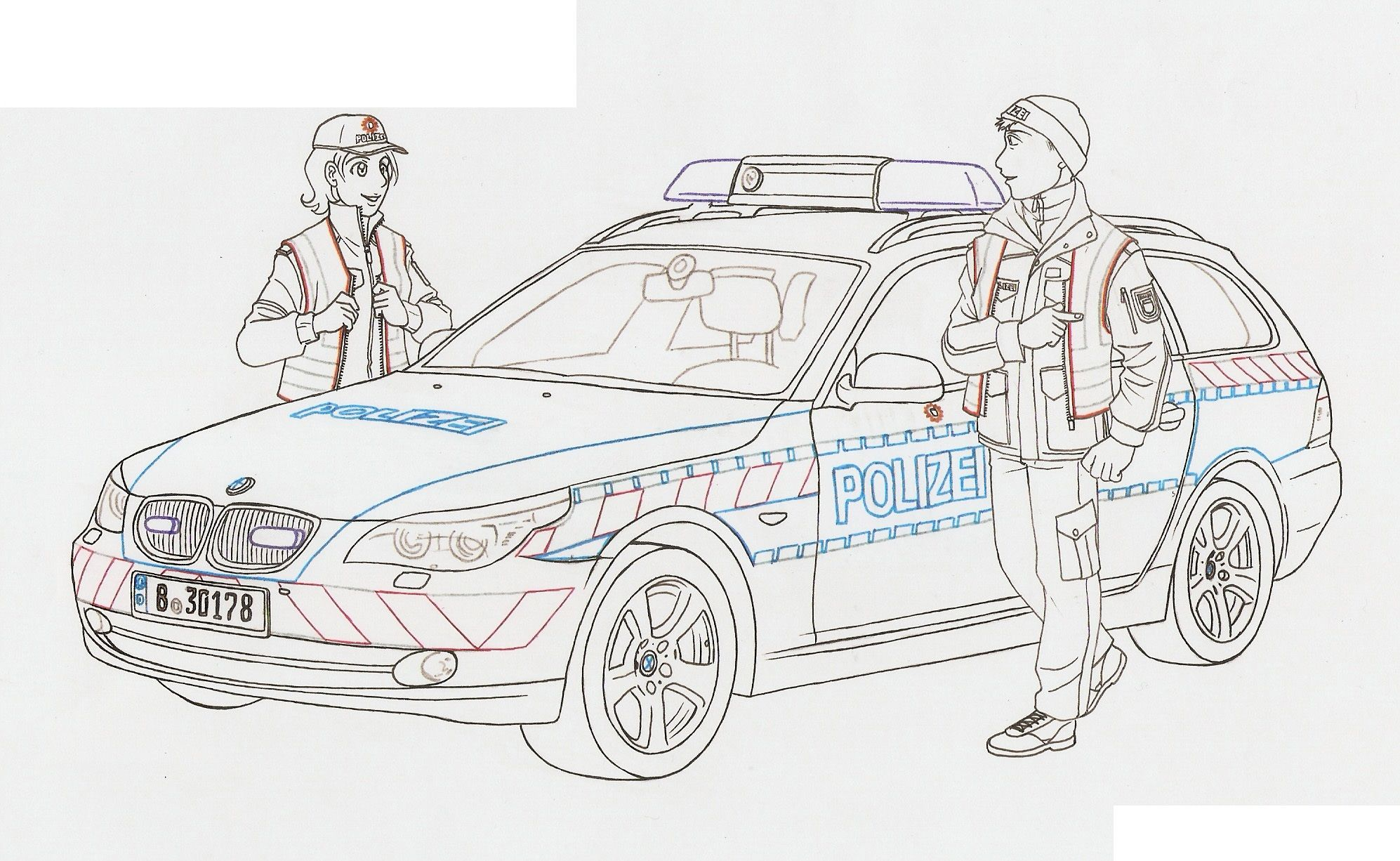 ausmalbild polizei  ausmalen