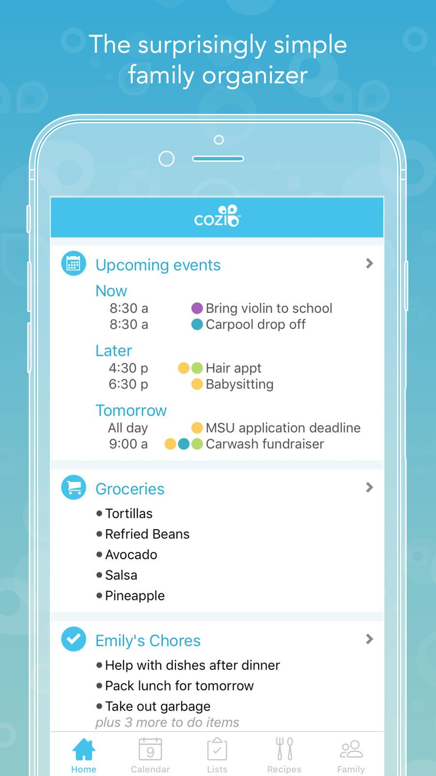 Cozi Family Organizer Ios Lifestyle App Apps With Images