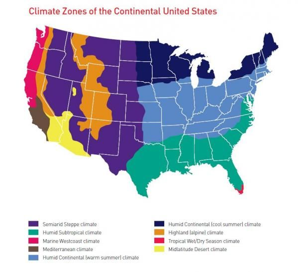 usa climate map | Geography