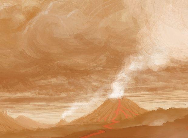 Vênus - A atmosfera é muito densa, a ponto de o Sol nem aparecer. As nuvens de ácidos, como o sulfúrico, fazem os astrônomos presumirem que o céu seja branco-amarelado, mas imagens das sondas soviéticas Venera na década de 1970 mostram uma cor alaranjada.