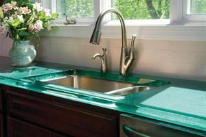 recycled glass coutertops | Glass Countertops by ThinkGlass - Countertops, Kitchen, Recycling ...