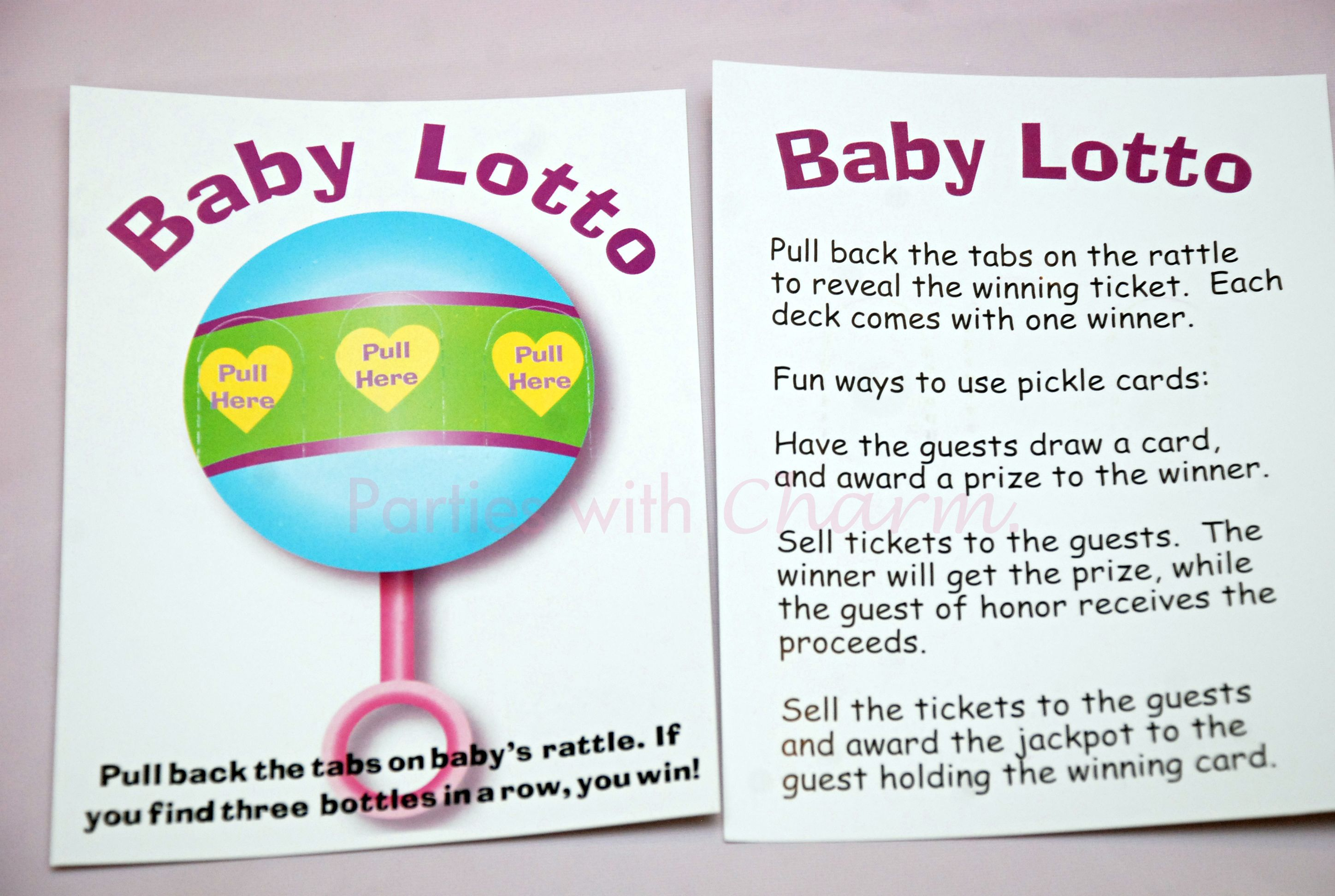 Baby Shower Game  Baby Lotto