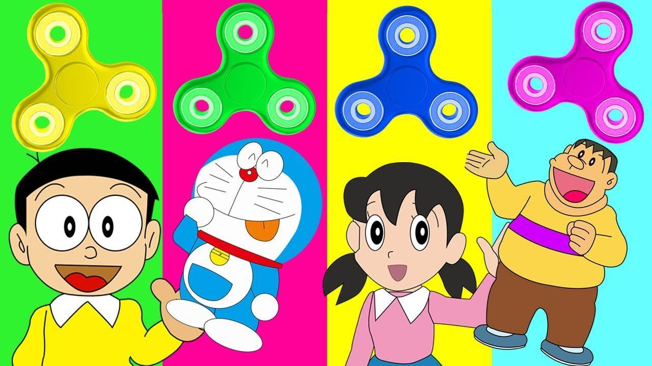 Wrong Fidget Spinner Doraemon Nobita Xuka Chaien Finger Family Song Nurs Learning Colors Finger Family Song Nursery Rhymes