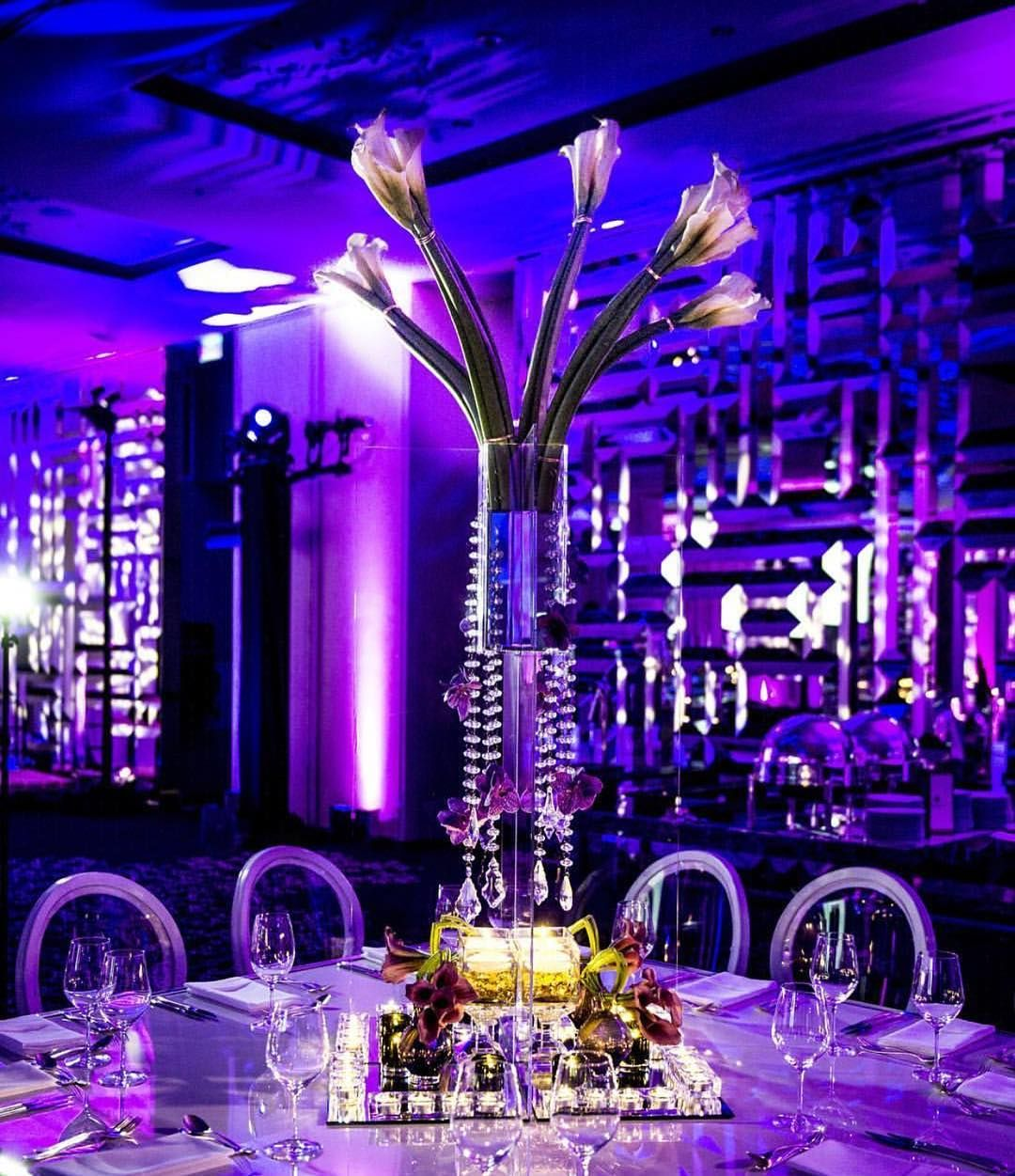 Pin by Always Flowers & Events on Centerpieces | Purple ...