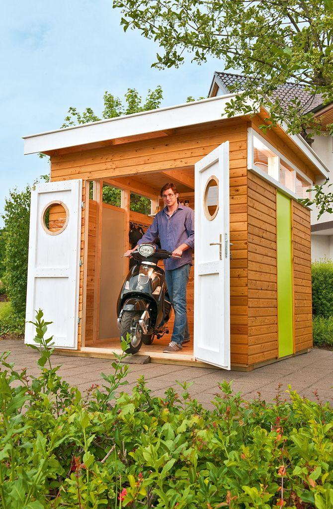 Moderne Fahrradgarage Nebengelass am Eigenheim Good style