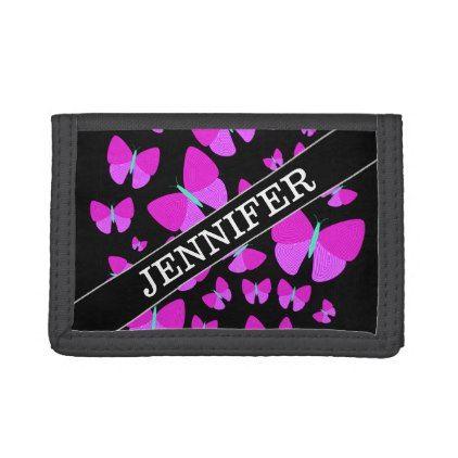 Custom Name Swarm Of Artistic Butterflies Wallet Zazzle Com Butterfly Custom Artist