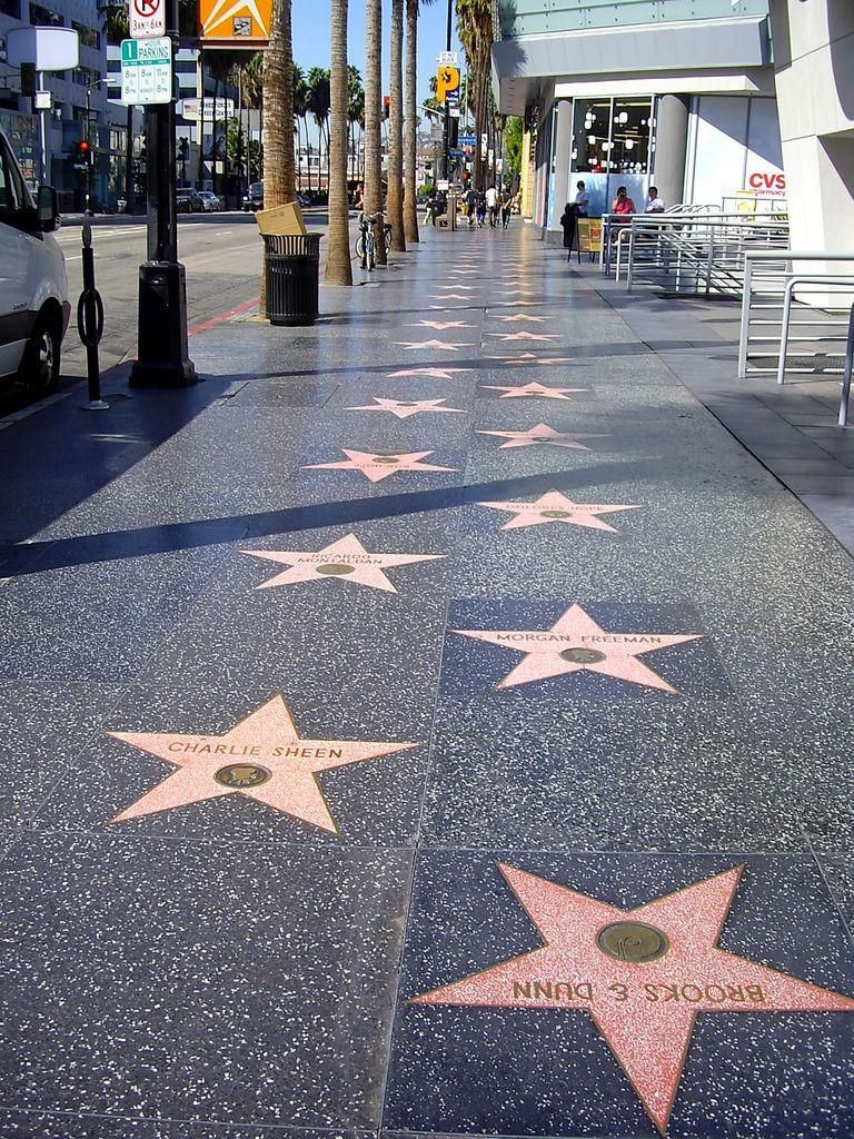 Paseo De La Fama Hollywood Los Angeles Ca Los Angeles