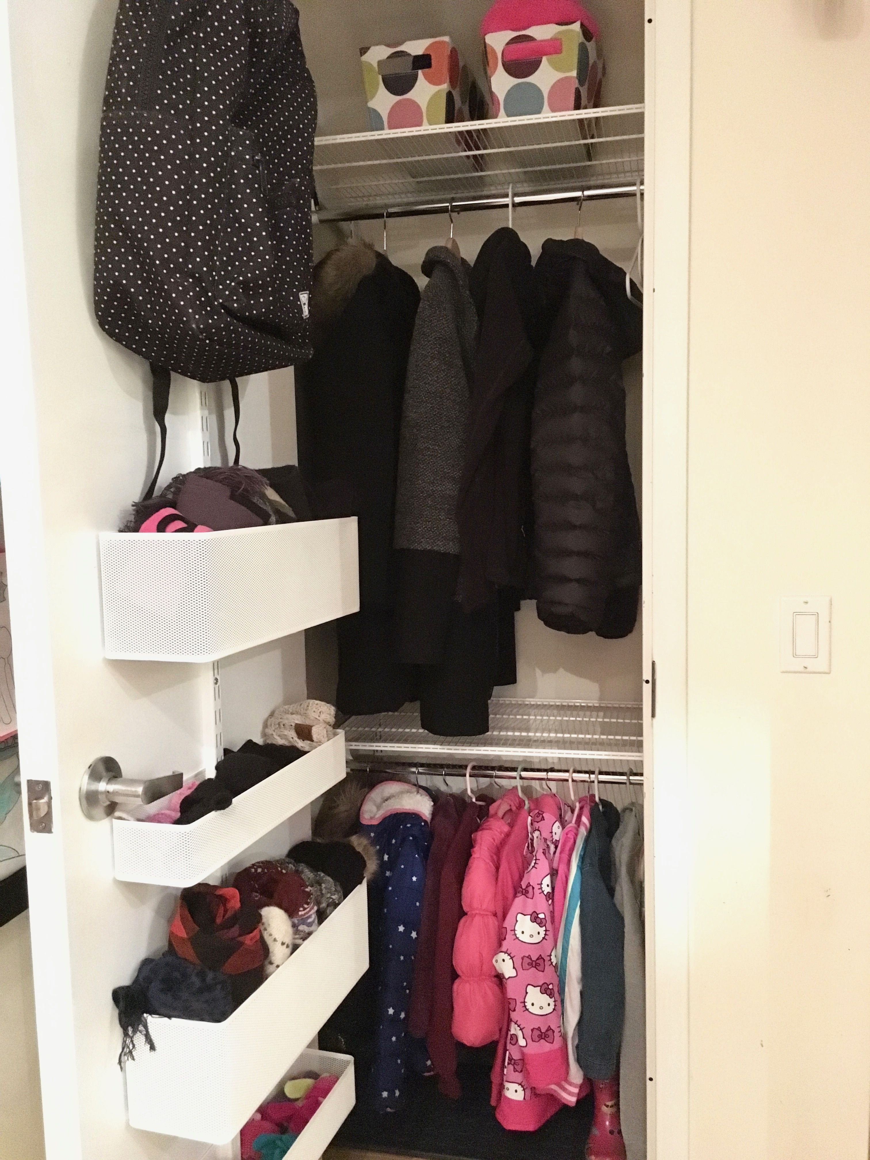 Small Elfa Coat Closet By Professional Organizer Laura Cattano