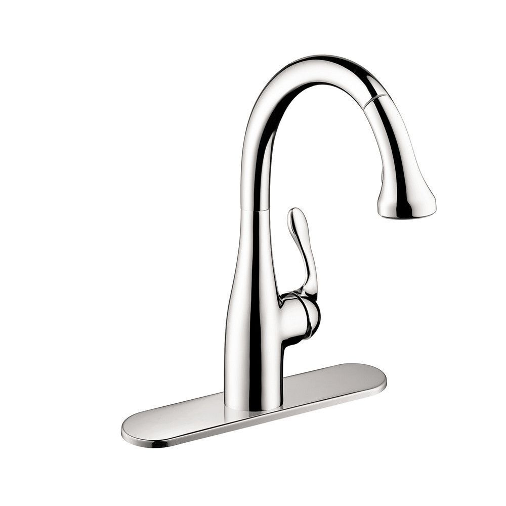 Hansgrohe 04066000 Chrome Allegro E Pull-Down Kitchen Faucet Gourmet ...