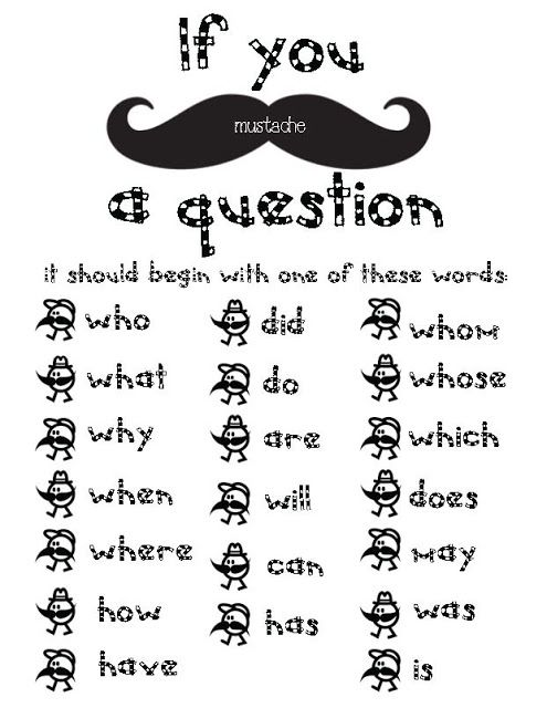 i mustache you a question packet