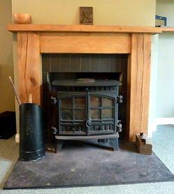 Solid Oak Beam Fire Surround | Inspiring Ideas | Pinterest | Fire ...