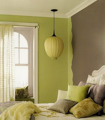 Lime Green And Brown Overlapping Http Bedroomdecor