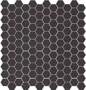Carrelage Mosaique Gres Cerame Noir Hexagone 2 5x2 5 Cm M2