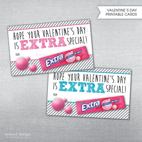 photo about Extra Gum Valentine Printable known as Quick Obtain Valentines Working day Added Gum through