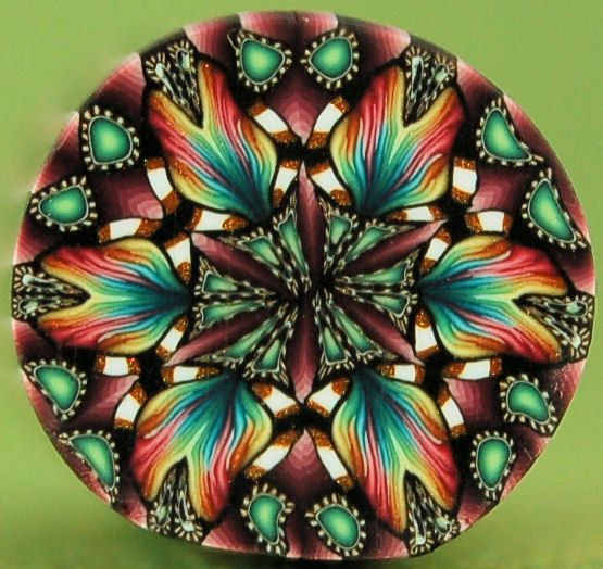 Polymer Clay Kaleidoscope Small Circle Cane  Grand by ikandiclay, $5.00