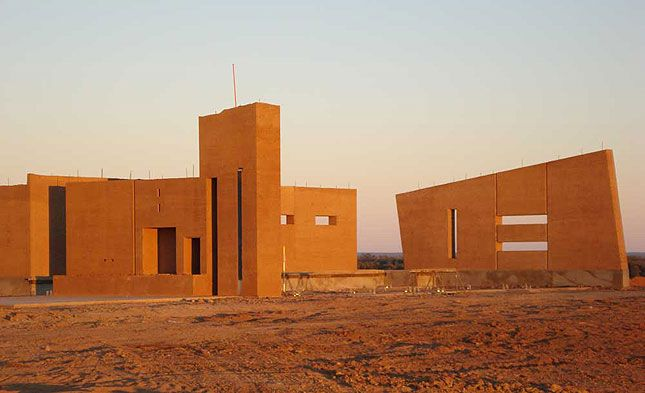 rammed earth architecture - Google Search