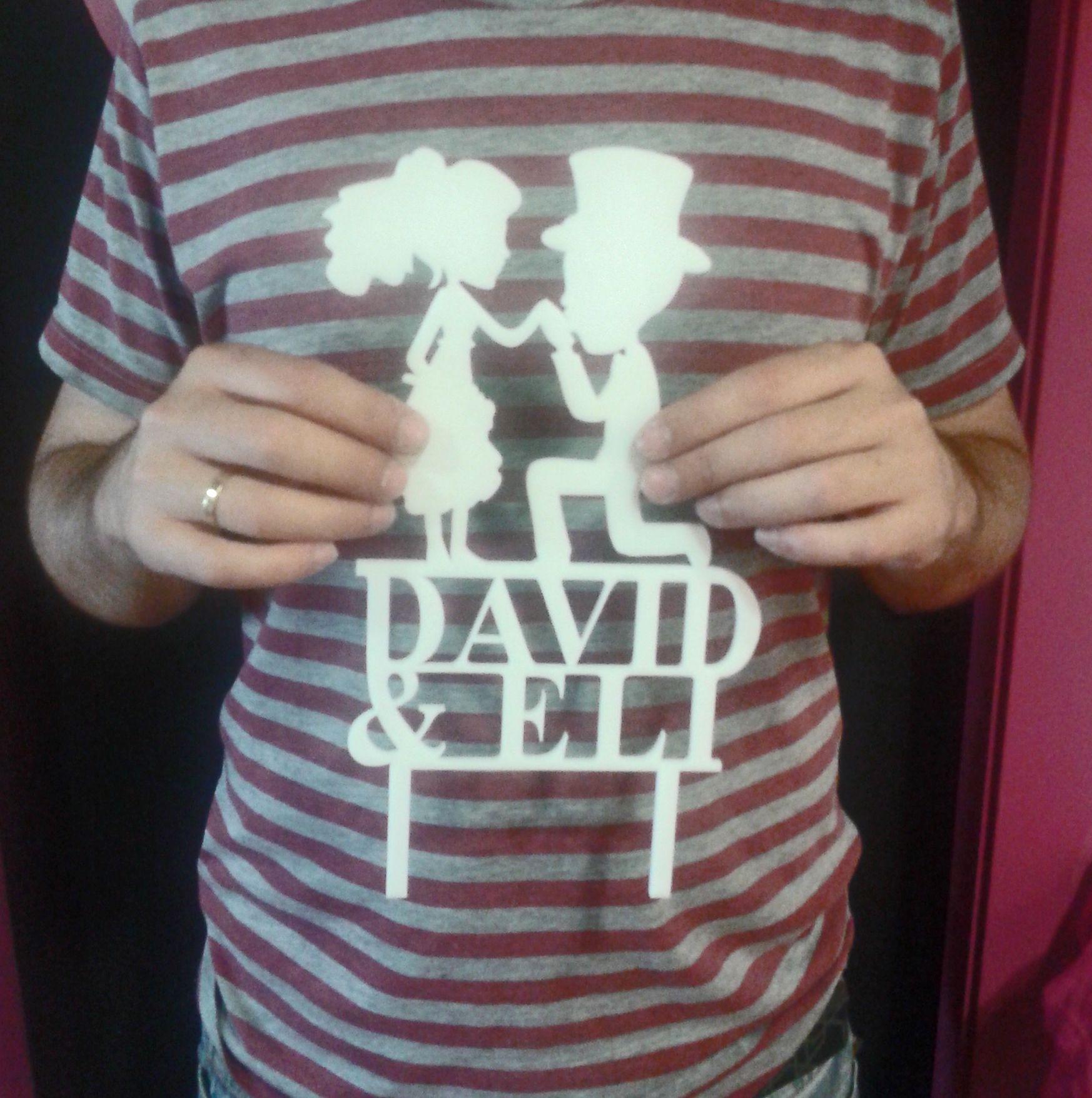 figura de madera metacrilato blanco #figuradecorativatarta #bodapersonalizada #escarabat