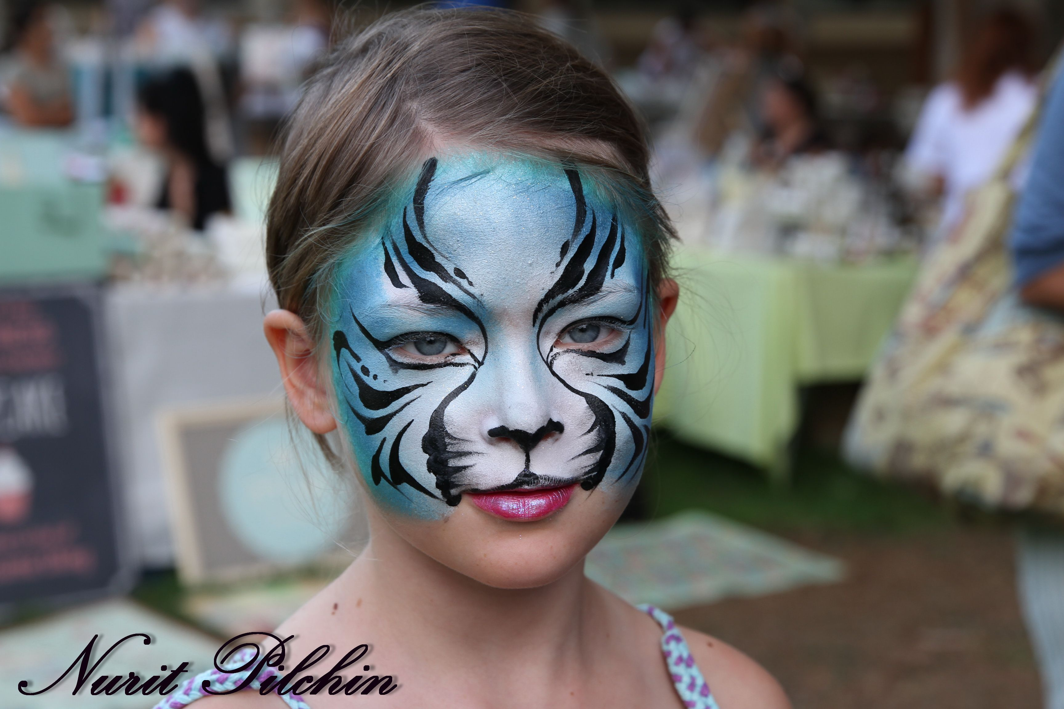 Blue tiger face painting face painting designs tiger
