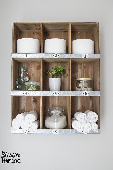 rustic bathroom wall shelves. rustic industrial bathroom makeover  ideas home improvement repurposing upcycling wall decor