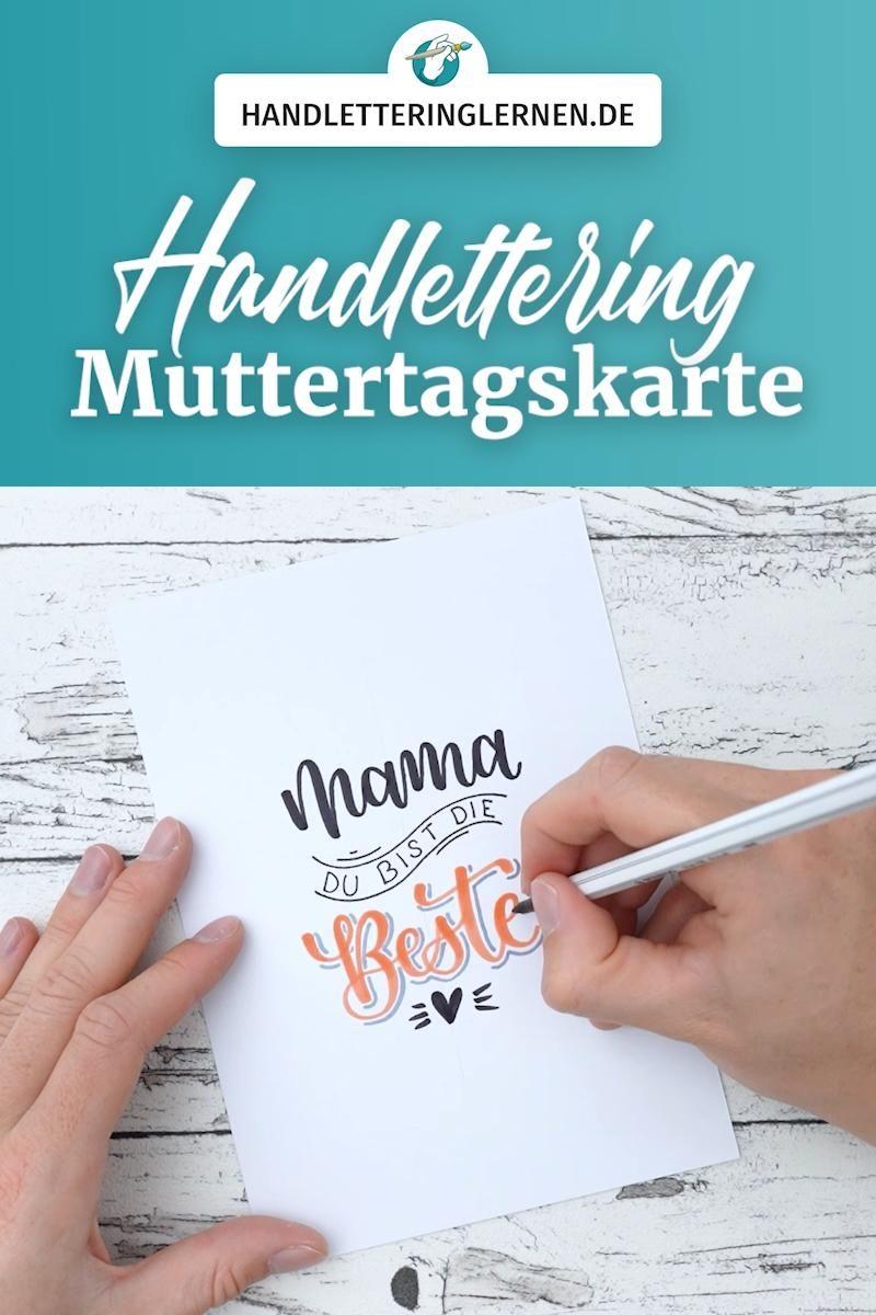 Handlettering zum Muttertag | Mama du bist die Beste