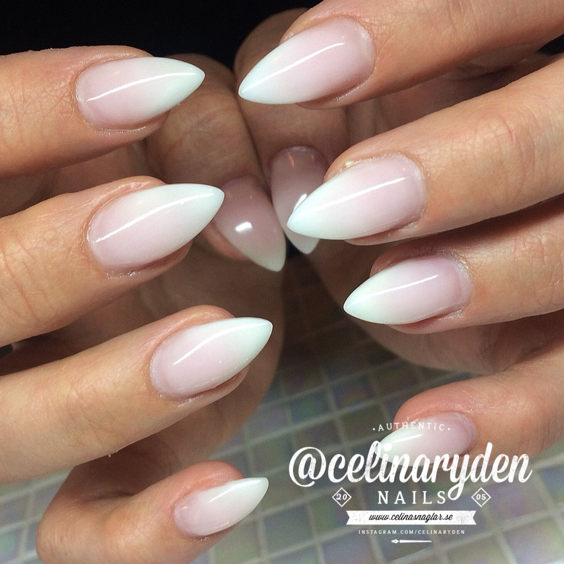 French Ombre French Fade Babyboomers Nails With Images