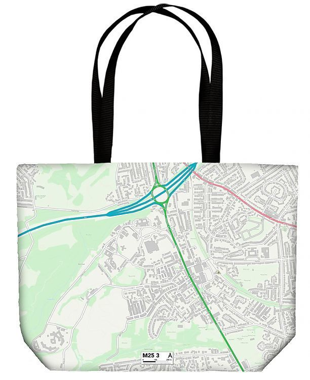 Shopping Bag Bury M25 3 Map