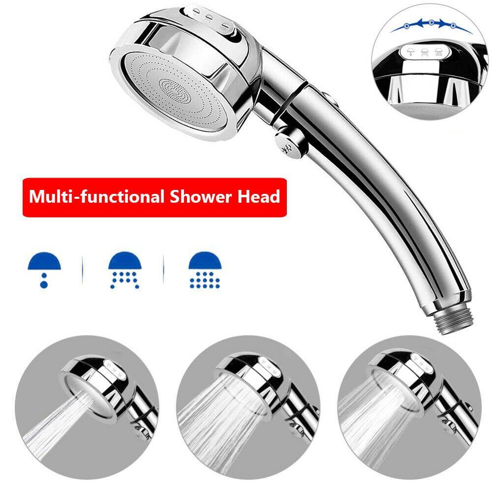 Handheld Showerhead Shower Head On Off Switch Water Saving 3 Modes