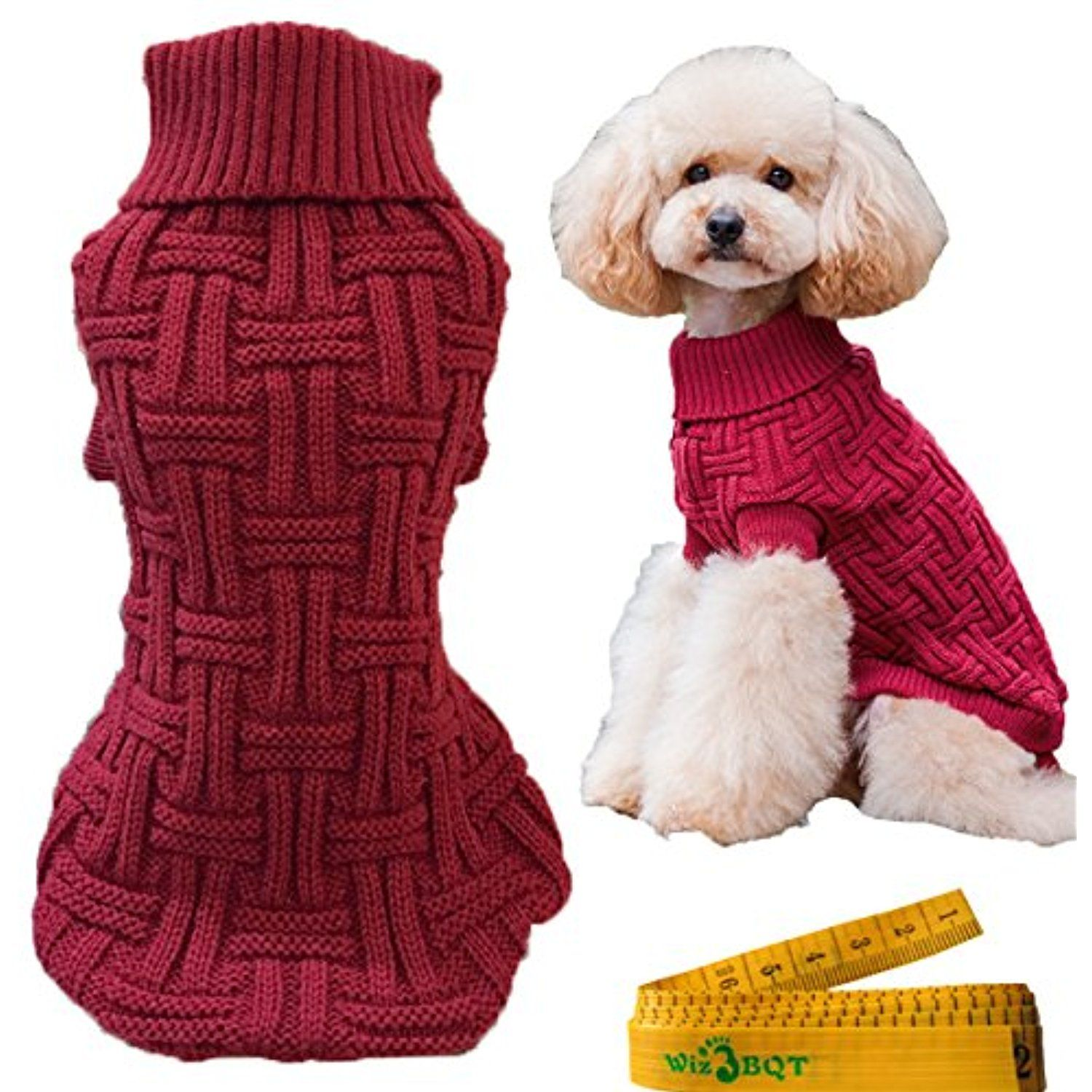 fee9ebd5fe Casual Elegant Knitted Cat Dog Pet Turtleneck Sweater Knitwear for Dogs  Cats Pets (B