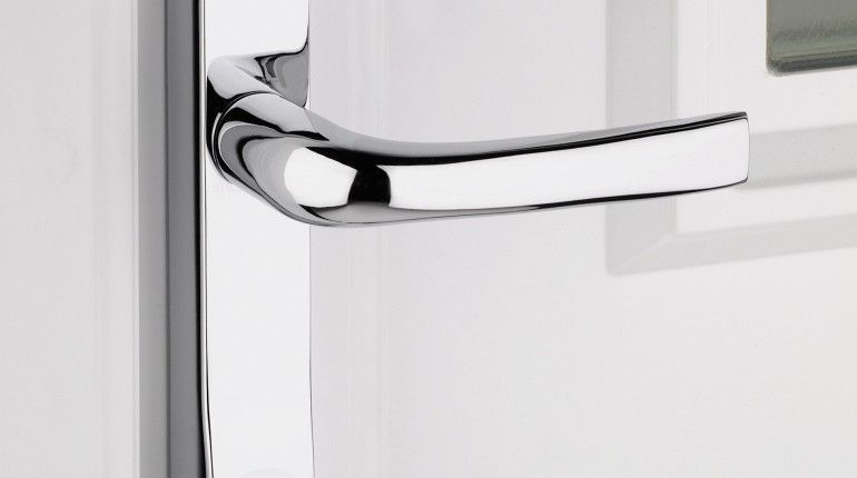 Feminine Polished Chrome External Door Handle and georgian polished ...