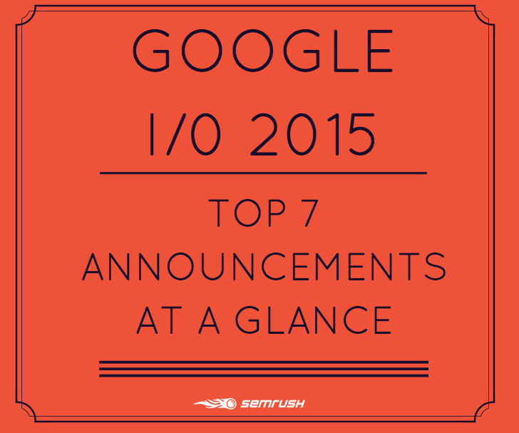 Google I/0 2015: Top 7 Announcements at a Glance