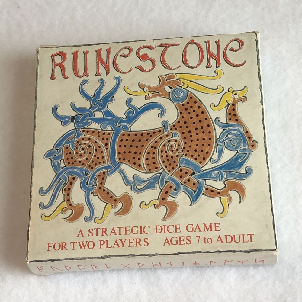 Runestone A Strategic Dice Game for 2 Players UK 1990's