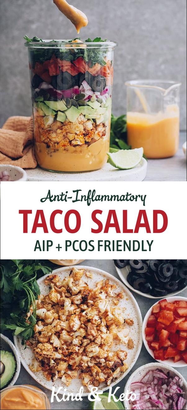 Anti-Inflammatory Taco Salad   AIP + PCOS Friendly