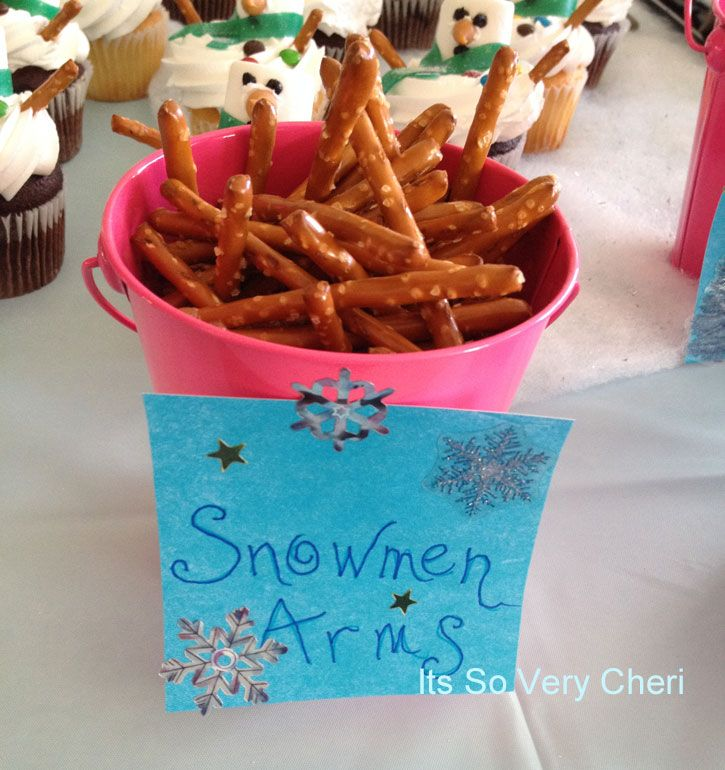 Pretzels Snowmen Arms And Other Good Food Ideas Frozen Party FoodFrozen Birthday