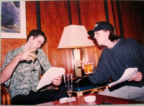 Krist Novoselic and Dave Grohl