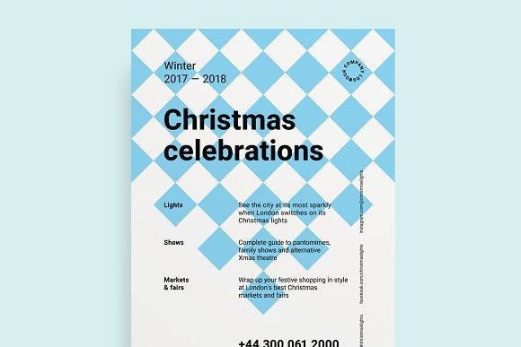 Christmas Poster Template  Christmas Poster Flyer Template