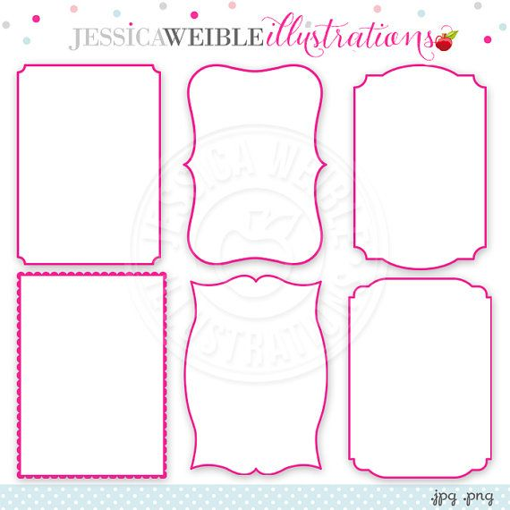 5 X 7 Frame Inserts Digital Clipart In Pink Commercial Use Etsy Digital Clip Art Clip Art Card Patterns