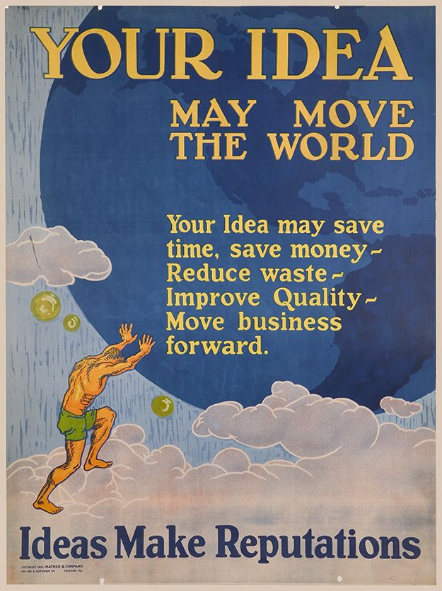 24x30 1920s Work Incentive Motivational Poster Say It With Snap!
