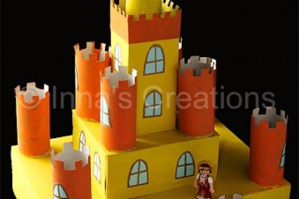 Come fare un castello con rotoli di carta igienica e ...