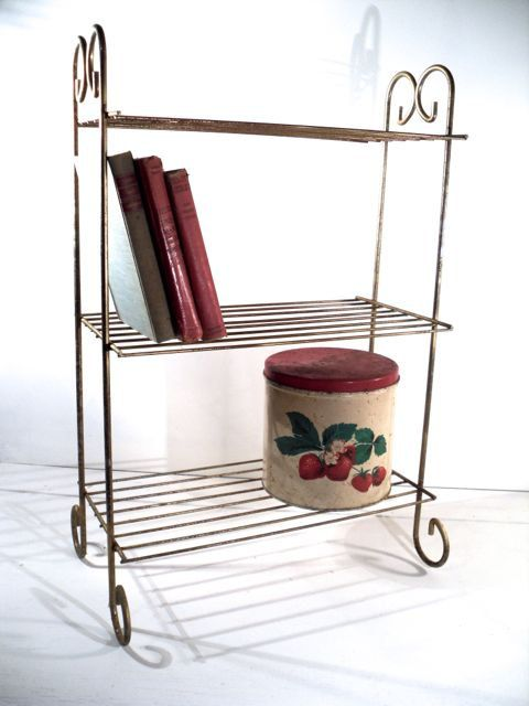 Vintage Wire Etagere- Display Shelves Plant Stand | Pinterest ...