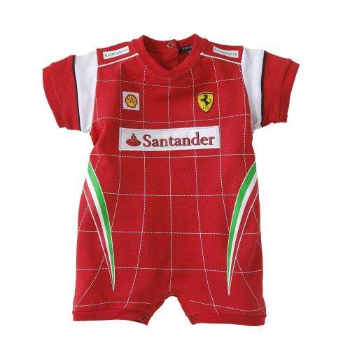 garanzia di alta qualità fornire un sacco di nuovo stile e lusso Ferrari Store : Tutina da neonato Pilota Scudetto Ferrari ...