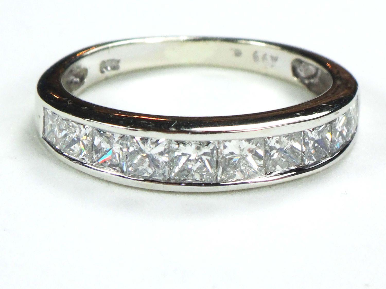 Fresh Vintage k Invisible Channel Set Diamond Wedding Ring White Gold Wedding Band Diamond Wedding Band Diamond Wedding Ring Diamond Ring
