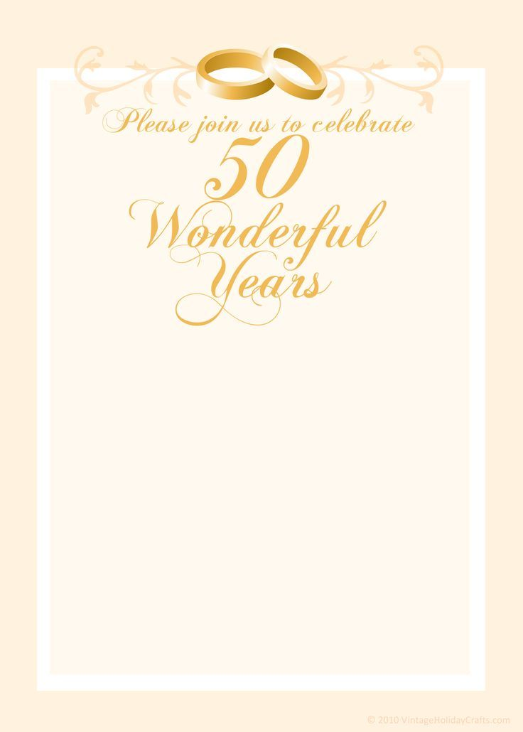 Free 50th Wedding Anniversary