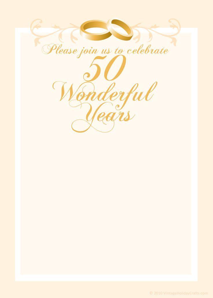 Free Anniversary Invitation Templates 50th Anniversary