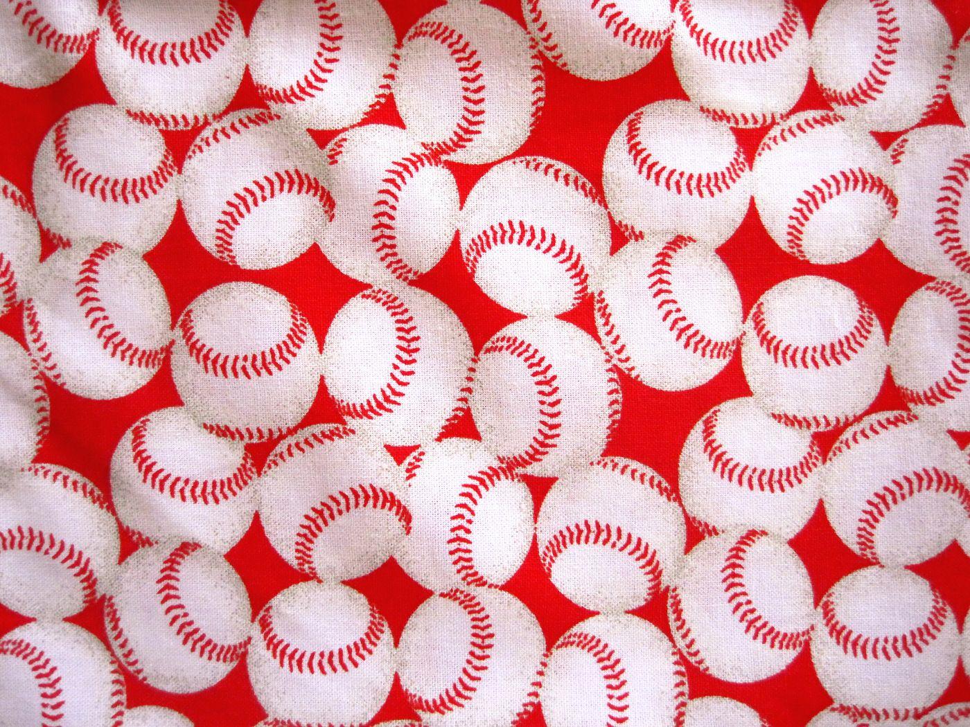 Vintage Baseball Quilting Fabric