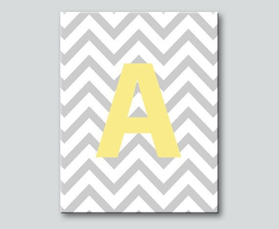 Monogrammed Chevron Canvas Art: can be made in any co… | Chevron ...