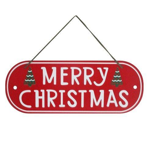 Metal Merry Christmas Wall Sign - Wondershop : Target ...
