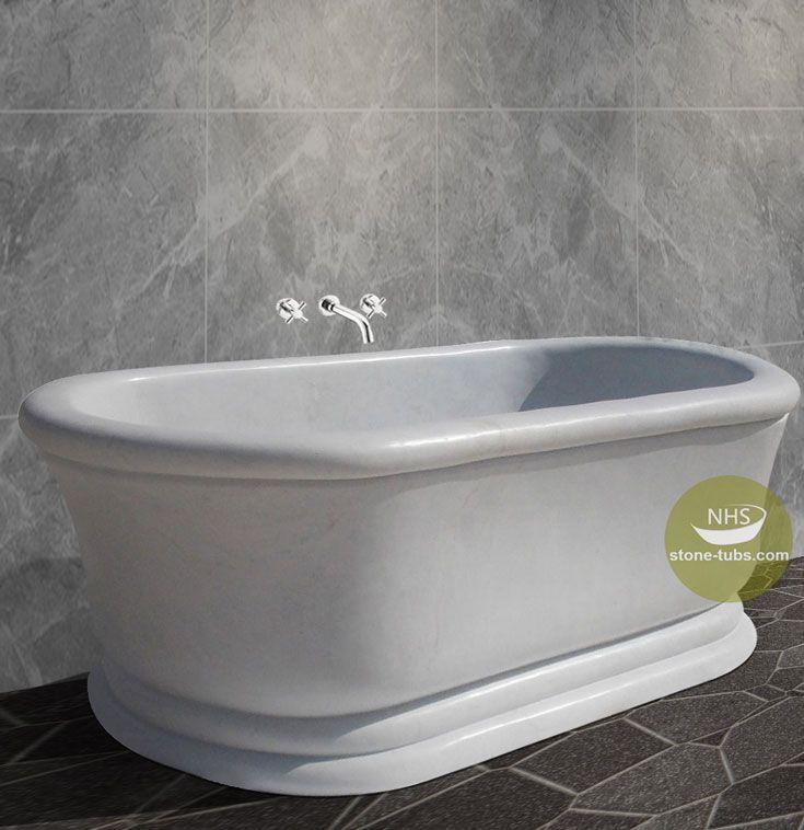 white marble bathtub oval bathtub | stone-tubs.com | Pinterest ...