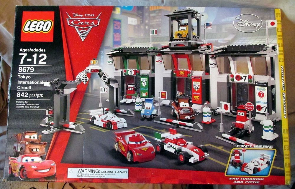 Lego Disney Pixar Cars 2 Tokyo International Circuit 8679 Unopened Parts Bags Lego Disney Disney Pixar Cars Lego