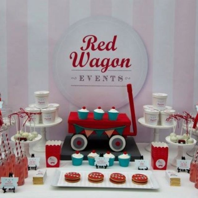 Cute red wagon! (With images) | Red wagon, Lolly buffet ...