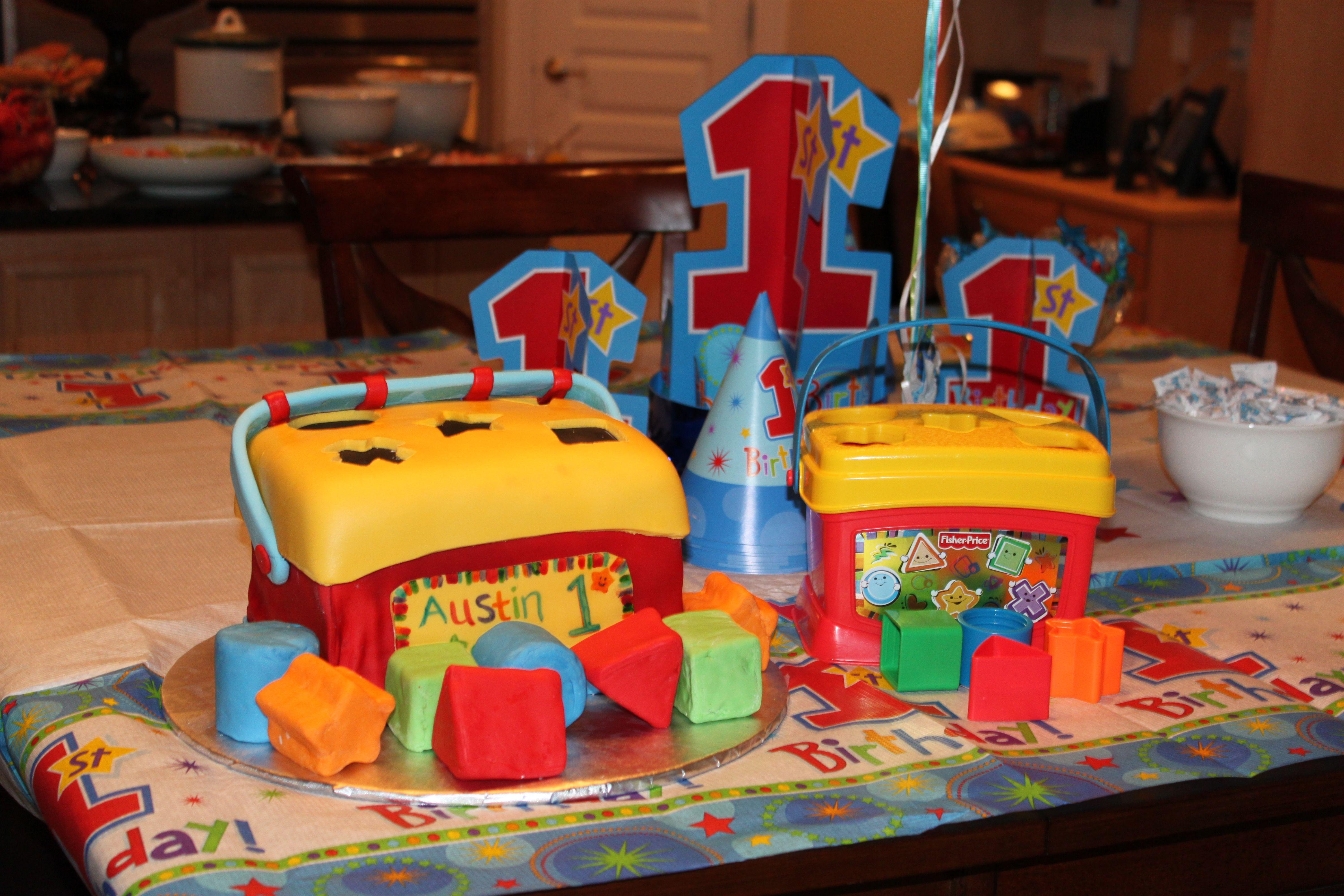 Colorful blocks custom birthday cake by Brenda Norton Louisville